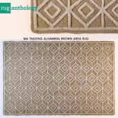 MA TRADING ALHAMBRA BROWN AREA RUG
