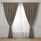 Curtains classic style.