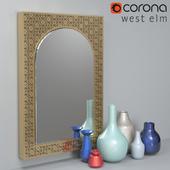 Vases and Mirror Set