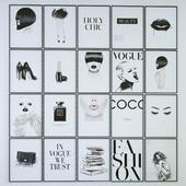 сборник постеров в стиле Fashion