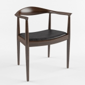 Chair black wood