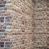 Кирпичная стена с углами