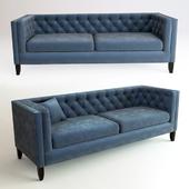 Midnight Blue Kendall Velvet Sofa