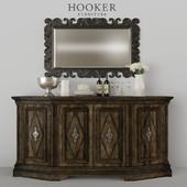 Hooker комод, зеркало