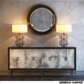 Edward Table Lamp, Rebecca Mirror, Edith Cabinet