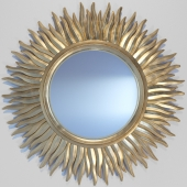 Decorative crafts CARVED WOOD MIRROR