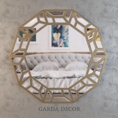 Зеркало GARDA DECOR gold