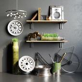 Loft decorative set RWB