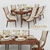 Caracole Open Invitation Dining Table&Caracole In Good Company Dining Chair
