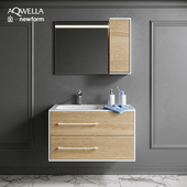 Ванный гарнитур Aqwella с декором Newform