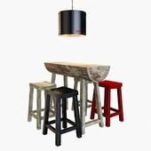 Стол+барные слулья