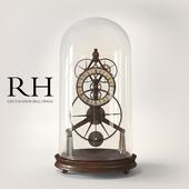 RH 19TH C. FRENCH GRASSHOPPER CLOCK CLOCHE
