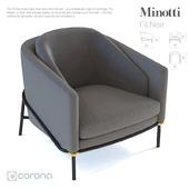 Minotti Fil Noir Armchair