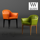 Vitoria Chair with armrests by Neue Wiener Werkstatte