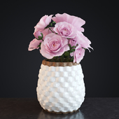 Flowers in Crate and Barrel Rati Vase