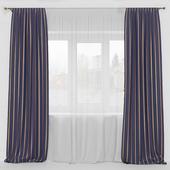 прямые шторы