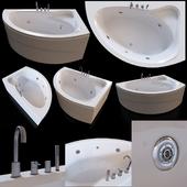 Акриловая угловая ванна Cezares Tebe 150x100 R