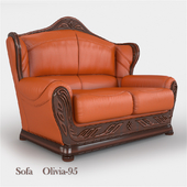 Двухместный кожаный диван Olivia A-95