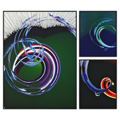 Abstract paintings set_02