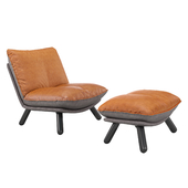 Кресло Lazy Sack lounge chair & hocker