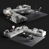 B&B Michel Club sofa set