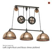 Люстра подвесная Loft Light Rust and Brass three plafond