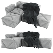 Moooi BFF Modular Sofa - Vesper Silver