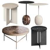 Marble Side Tables Set 1