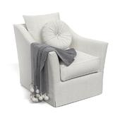 Keely slipcovered armchair