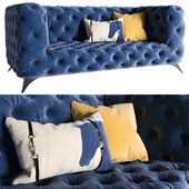 KARE Sofa Look 180cm Velvet Blue (vray NEXT)