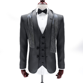 Suit with a bow tie