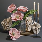 RH Acanthus leaves decorative set