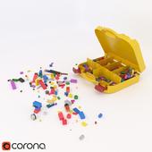 LEGO Classic Creative Suitcase + 10 assembled toys