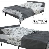 IKEA slattum Upholstered bed frame \ ИКЕА СЛАТТУМ Каркас кровати с обивкой