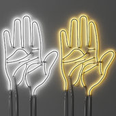 Neon sign Hand Palm