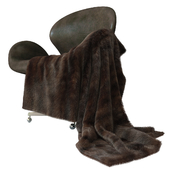 Devon leather chair + mink fur (only V-Ray!!!)