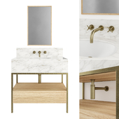 Clyde Single Metal Vanity Unit by Porter
