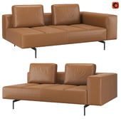 BoConcept Amsterdam Camel Estoril leather
