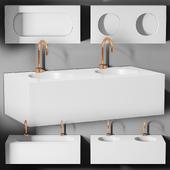 раковина Planit Block basin & Graff Mod plus faucet 1