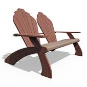 Двойное кресло Адирондак
