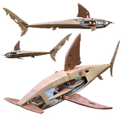 Wooden Mechanical Shark