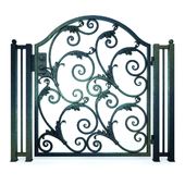 Wrought Iron Door Gate 01