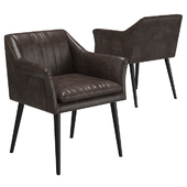 KARE Chair with Armrest Diner Brown