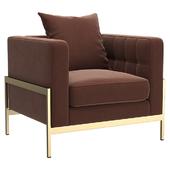 KARE Arm Chair Loft Brown
