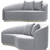 Interlude Dana Curved Sofa