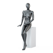 Female black mannequin in sits pose 60