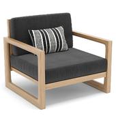 RH Outdoor Navaro armchair
