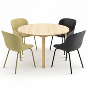 HYG Chair + Slice Table by Normann Copenhagen