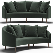 Art Deco Petite Sofa
