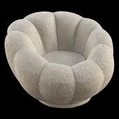 Low-Profile Swivel Tulip Chair White Sherpa - Room Essentials
